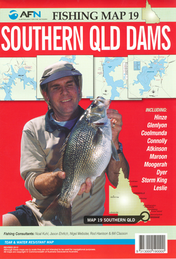 Southern QLD Dams Fishing Map 19 AFN