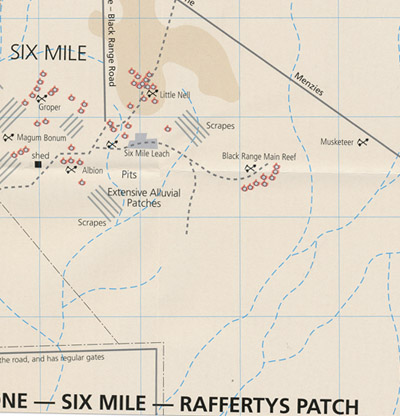 Sandstone Six Mile Raffertys Patch Goldfield Gold Relics Map
