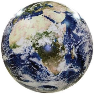 Inflatable World Globe NASA Earth from Space 12 Inch
