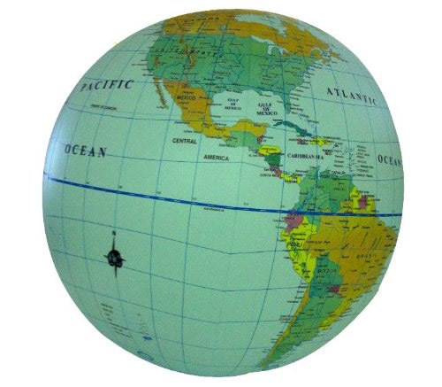 Inflatable World Globes Political 12 Inch