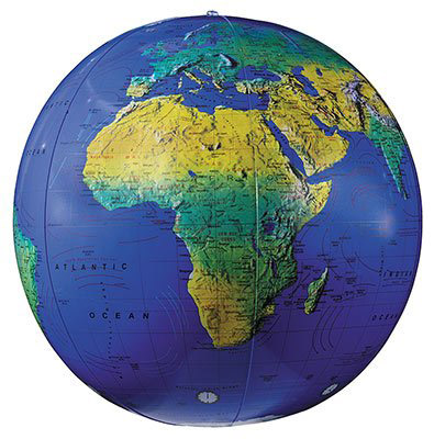 Inflatable World Globe Topographic 12'