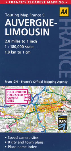 Auvergne Limousin  Map AA