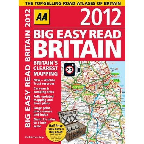Britain Big Easy Read Atlas 2012 AA Perfect Bound