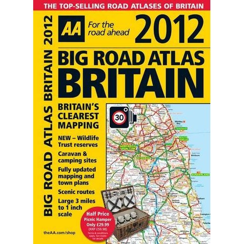 Britain Big Road Atlas 2012 AA Perfect Bound