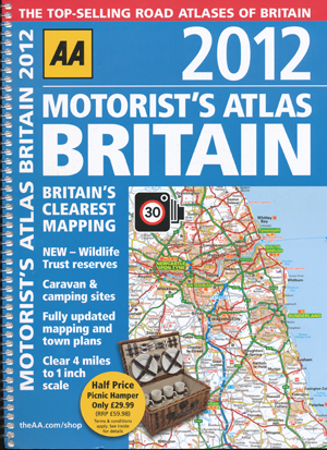 Britain Motorists Atlas 2012 AA Spiral