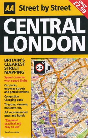 Central London Street by Street Map AA