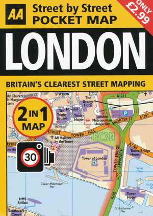 London Street by Street Pocket Map AA
