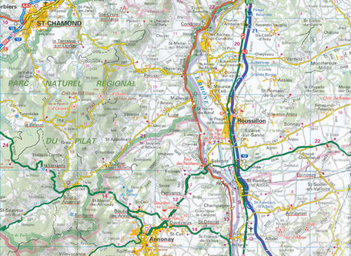 Rhone Alps Map AA