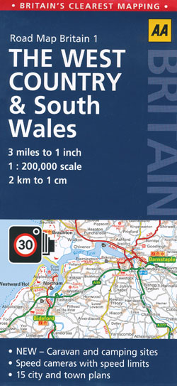 West Country and South Wales Map AA