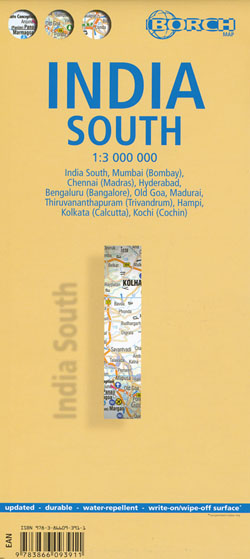 India South Map Borch