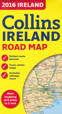 Ireland Road Map Collins 2016