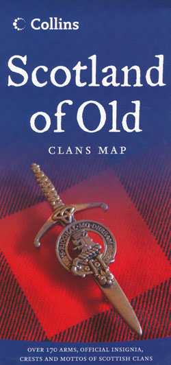 Scotland of Old Clans Map Collins