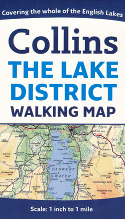 The Lake District Walking Map Collins