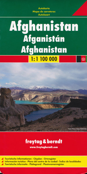 Afghanistan Map Freytag and Berndt