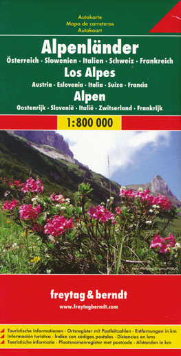 Alps Map Freytag and Berndt