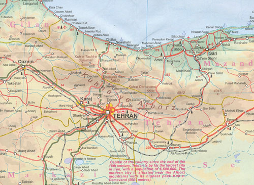 Iran and Tehran Map ITMB