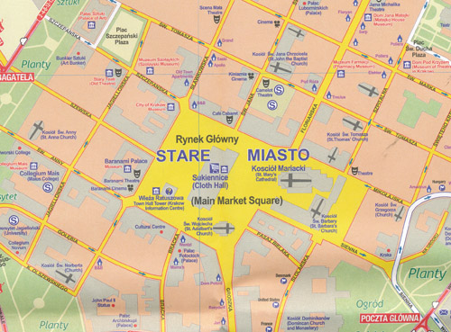 Krakow City Map ITMB