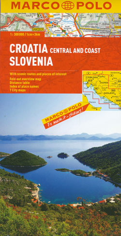 Croatia Central and Coast Slovenia Map Marco Polo