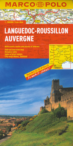 Languedoc Roussillon Auvergne Map Marco Polo