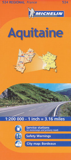 Aquitaine Map 524 Michelin