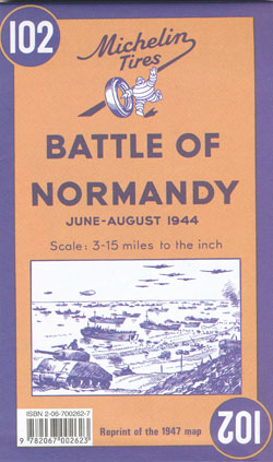 Battle of Normandy Map 102 Michelin