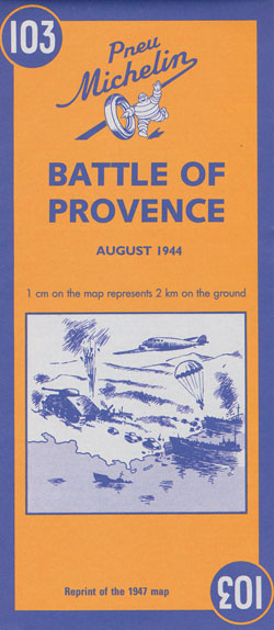 Battle of Provence Map 103 Michelin