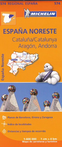 Cataluna Aragon Map 574 Michelin