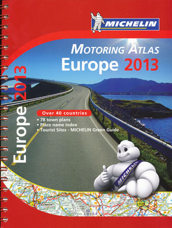 Europe Motoring Atlas Michelin 2013