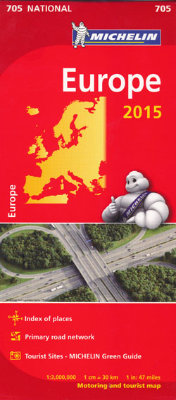 Europe Map 705 Michelin 2015