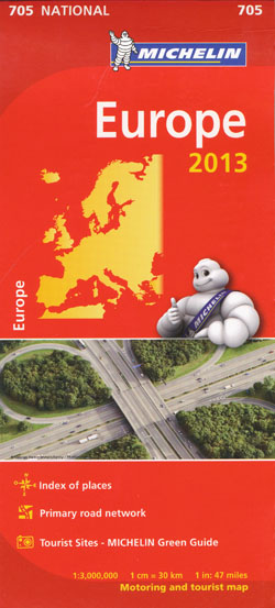 Europe Map 705 Michelin 2013