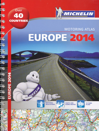 Europe Motoring Atlas Michelin 2014