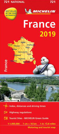 France Map 721 Michelin 2019