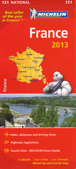 France Map 721 Michelin 2013