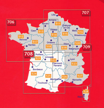 France Southwest Map 708 Michelin