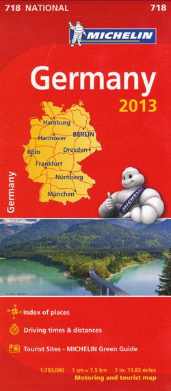 Germany Map 718 Michelin 2013