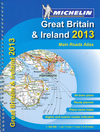 Great Britain and Ireland Main Roads Atlas Michelin 2013