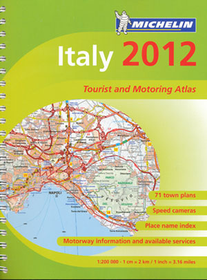 Italy Tourist and Motoring Atlas Michelin Spiral 2012