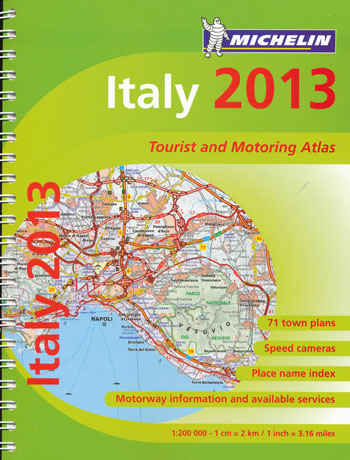 Italy Tourist and Motoring Atlas Michelin Spiral 2013