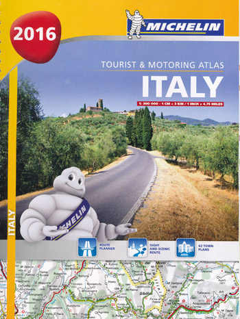 Italy Tourist Motoring Atlas Michelin 2016