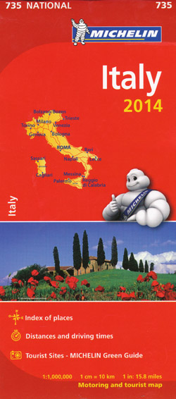 Italy Map 735 Michelin 2014