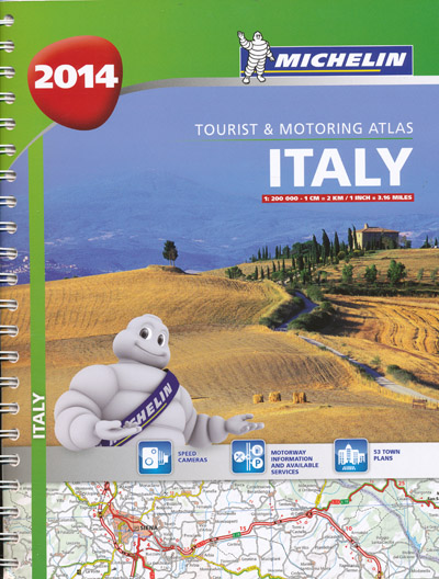 Italy Tourist and Motoring Atlas Michelin 2014