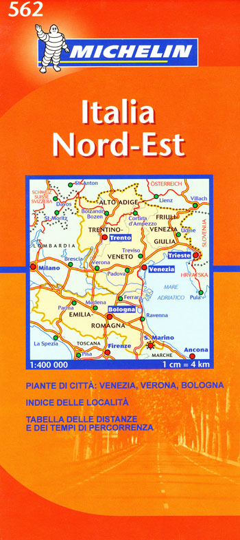 Italy North East Map 562 Michelin