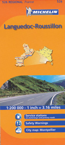 Languedoc Rousillon Map 526 Michelin