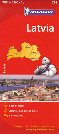 Latvia Map 783 Michelin