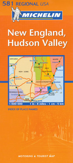 New England Hudson Valley Map 581 Michelin