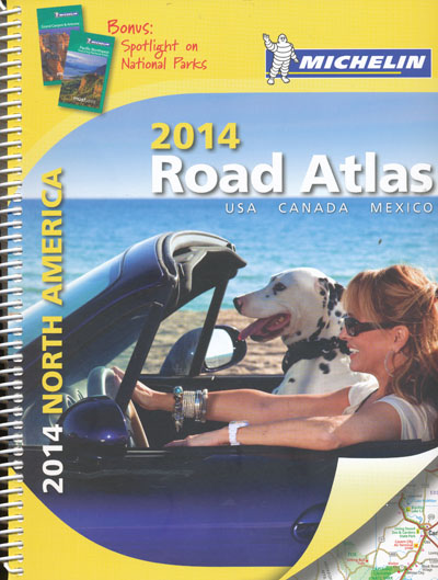 North America Road Atlas Michelin 2014 Spiral
