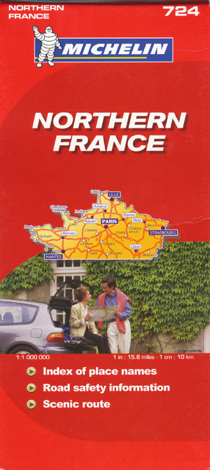 Northern France Map 724 Michelin 2011