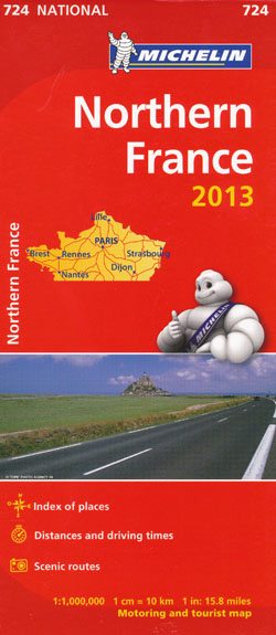 Northern France Map 724 Michelin 2013
