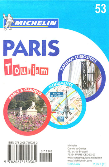 Paris Tourism Map 53 Michelin