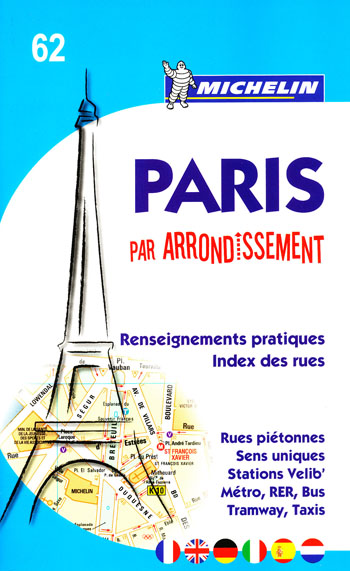 Paris Arrondissement Map 62 Michelin